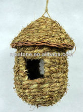 natural straw bird cages