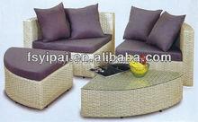 3 elegant indoor home rattan corner sofa bedroom sets (YPS048)