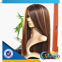 manufactur supply low price high quality highlight brown color unprocessed african american wigs human hair
