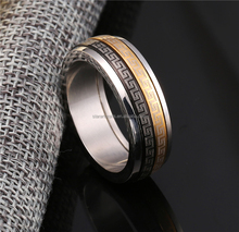 Wholesale popular cheap stainless steel rune desige rings for men/IPB plated stainless steel