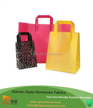 colorful plastic gift bag shopping