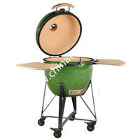 Large Garden Euro Barbecue Smoking Grill Trolley Charcoal bbq