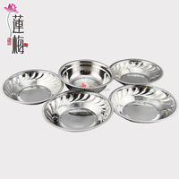 Stainless steel dinner plate & dishes Fish plate Salad plate