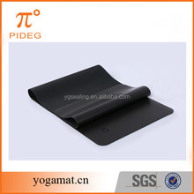 High Quality Anti Slip Rubber Yoga Mat With PU Leather On Surface