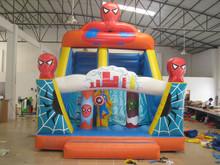film character Spider Man inflatable slide