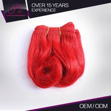 Soft And Smooth Very Popular 100% Human Hair Short Marketing Peruvian Selling Premium Red Cosplay Hair Products