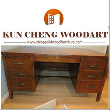 Arts and Crafts Writing Executive Computer Desk Oak Furniture Office Wood Table
