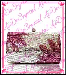 Aidocrystal pure handmade fashion designer dazzling gems banquet bag double use