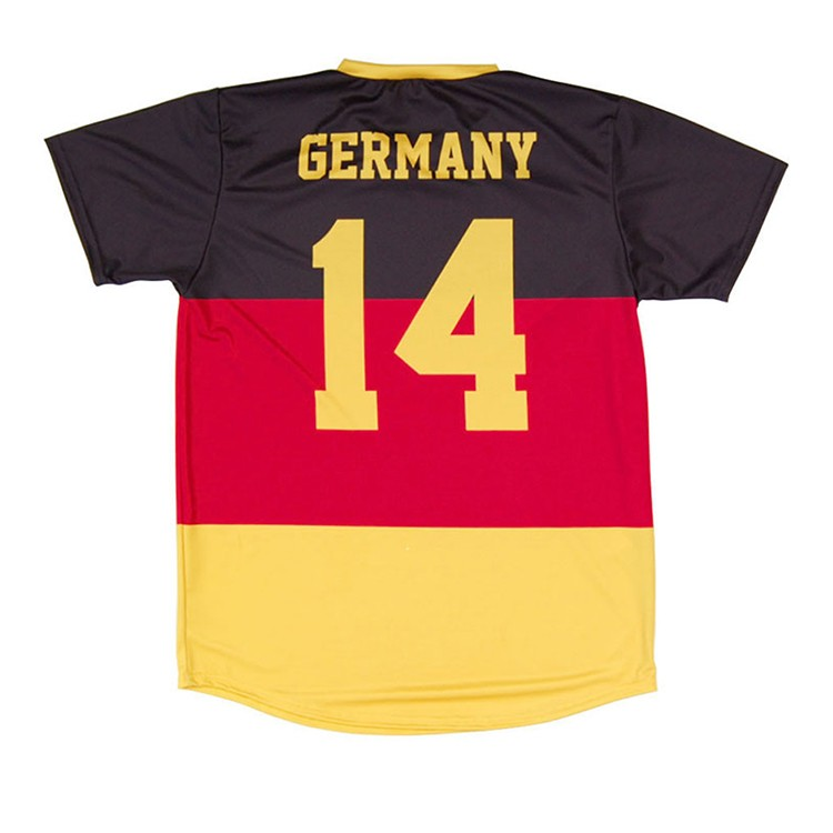 black and yellow color soccer jersey