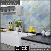 Green blue cheap glazed imitation brick wall tiles