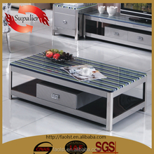 modern up and down metal steel coffee table
