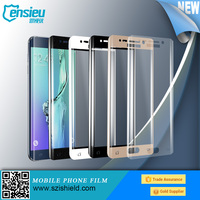 2015 Hot New Product for Samsung S6 Edge Full Cover Tempered Glass Colorful , For Samsung S6 Full Edge Glass Screen Protector