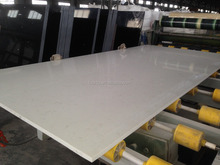 Cararra white natural surface marble looking artificial quartz stone