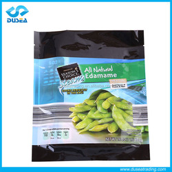 Safe Food Grade Plastic Printed Food Bag Pack Agricultural Products With Clear Window Front