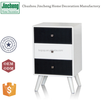 Faux leather used chest of drawers design