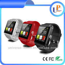 2015 hot sell wrist smart bluetooth android watch phone for iphone/Samsung/Sony/Android system phone