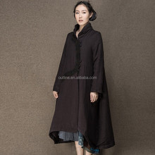 Hot Selling Fashion Embroidered Full Length Ladies Fancy Long Coat