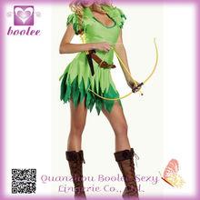 Peter Pan Para Robin Hood Disfraz PP1337 verde atractivo del traje de Halloween para los trajes de las mujeres + hat