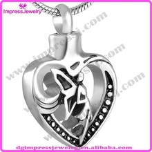 Alibaba new product angel girl in my heart cremation jewelry stainless steel memorial jewellery