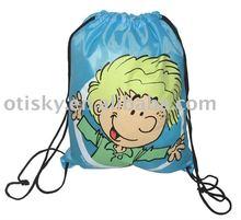 Promotion kids drawstring bag/drawstring backpack