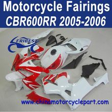 3 Layers Clear Coat For Honda CBR600RR 2005-2006 Red White ABS Plastic Fairings FFKHD008