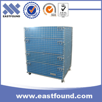 Pet preform storage collapsible wire steel pallet container for sale