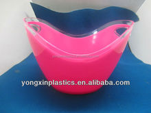 wholesale plastic Double wall clear ice buckets