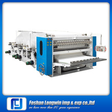 Automatic fold counting high speed tissue paper folder