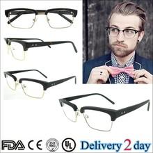2015 high quality fashion eyeglasses providers black/tortoise men optical glasses handmade acetate silhouette eyeglasses frames