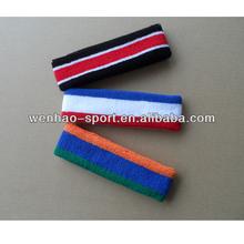 Sweat Absorb Terry cotton headband basketball