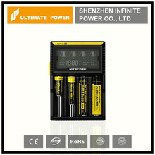 nitecore lcd charger D4 wholesale nitecore d4 intelligent charger for 18650 Li-ion battery
