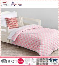 New design PINK luxury printed cotton thin quilt