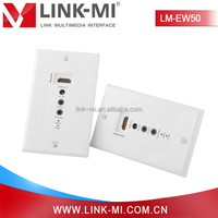 LINK-MI LM-EW05 EDID Call Back 50m 3D 1080P HDMI Wall Plate Extender over Cat5e/6