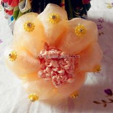 Diamond hair net Girl Crochet bun cover hair snood Ballet Dance Skating Mesh