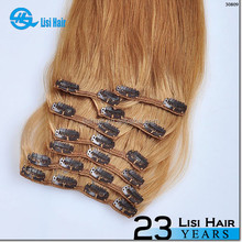 WY Hot New Arrival Double Weft Wholesale Good Feedback one piece full head clip in hair extensions