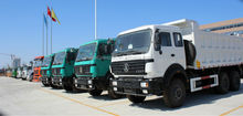 Beiben 6x4 380hp dump truck used for construction work