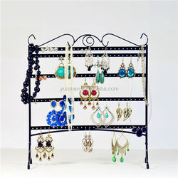 fancy acrylic rotating jewelry display case for countertops & retail store necklace price display card high quality