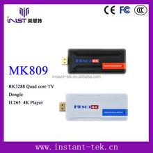 INST RK3288 Quad core mini pc tv dongle H.265 4K Player wholesale android smart tv set top box