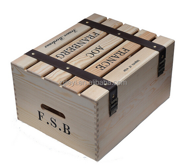 Custom cheap wooden wine crates for sale buy wine crates for Where to buy used wine crates
