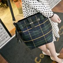 New customer enjoy 15% discount retro vintage stripe bucket lady shoulder sling bag
