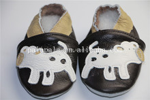 Animals printed puppy pattern genuine leather cute lovely baby shoes kids moccasins for boys girls