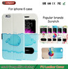 super-thin window flip for iphone6 6s case PU PC leather cheap mobile phone case for iphone 6 6s