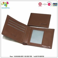 Factory wholesale credit name leather card holder