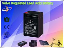 valve regulated lead acid AGM battery 6v 4.5ah solar/UPS/inverter/controller/electrical bike/golf car battery 6v 4.5ah