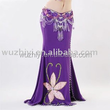 New side opend belly dance wrap skirts/dancing dresses/belly dance costumes for women