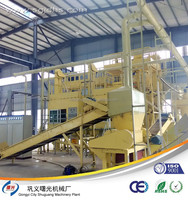PCB crushing and recycling machine system