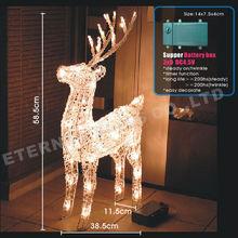 2015 3d large outdoor christmas reindeer led light