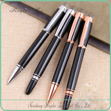 high class black metal ballpoint pen with diamond on top for promotion