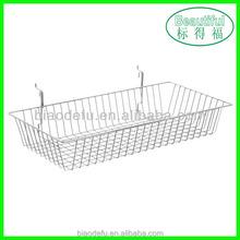 Supermarket metal wire hanging basket