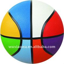 rainbow color basketball/rubber material